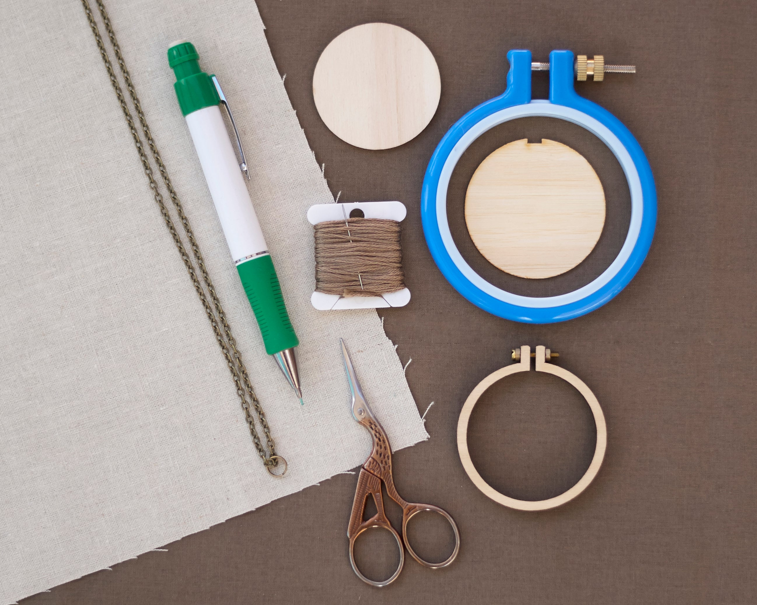 Dandelyne Mini Embroidery Hoop Supplies