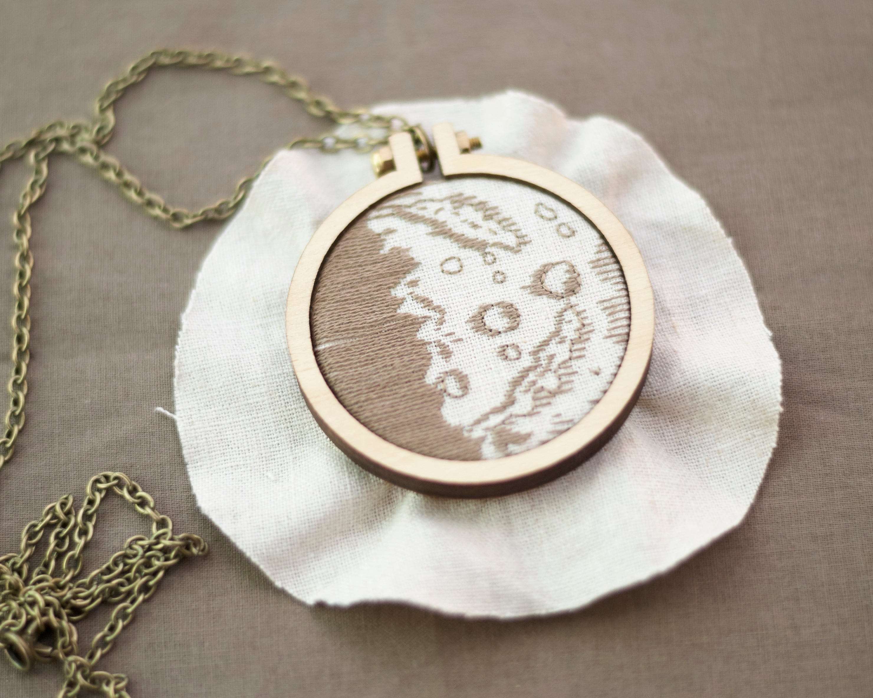 Moon Phase Mini Dandelyne Embroidery
