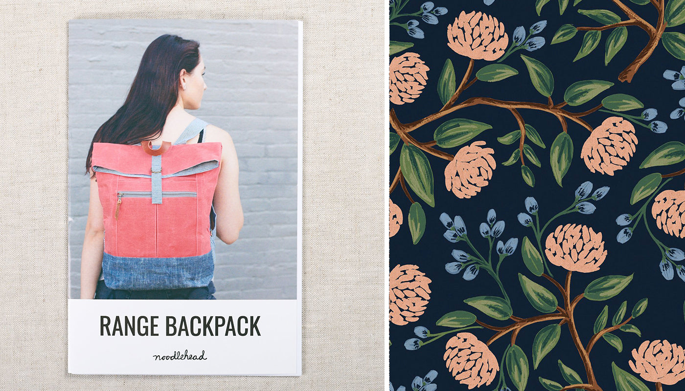 range backpack pattern with floral canvas