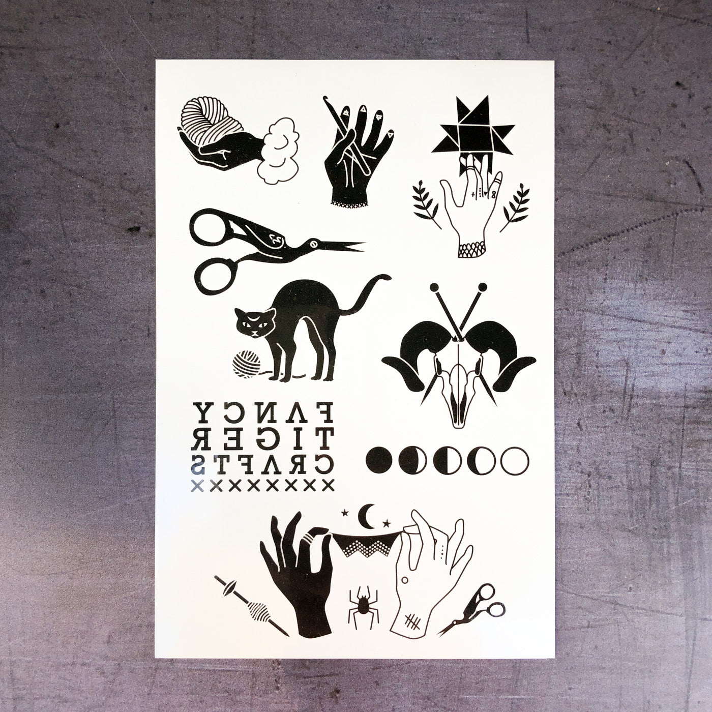 temporary tattoo sheet