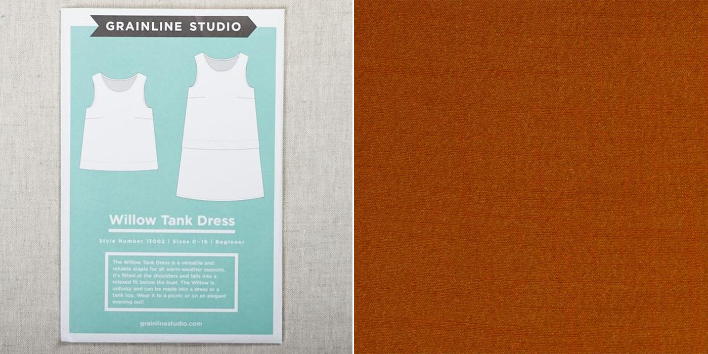 willow tank sewing pattern with rayon mojito fabric