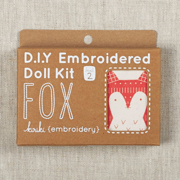 Fox Embroidered Doll Kit