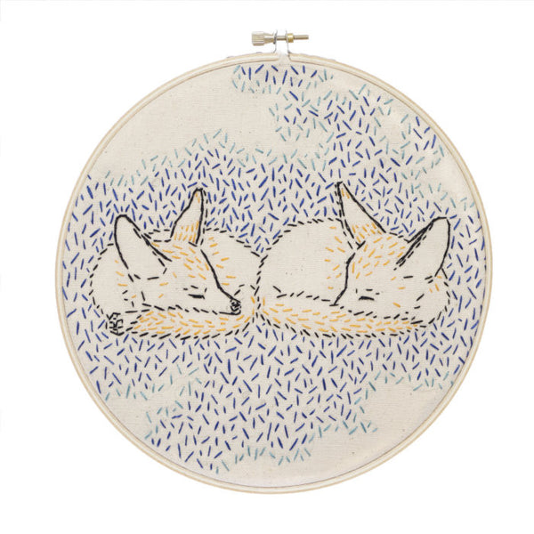 How Foxes Dream Embroidery Kit