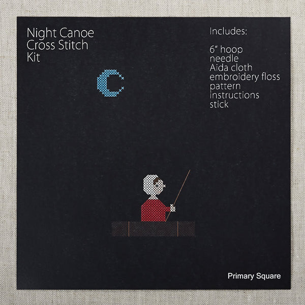Night Canoe Cross Stitch Kit