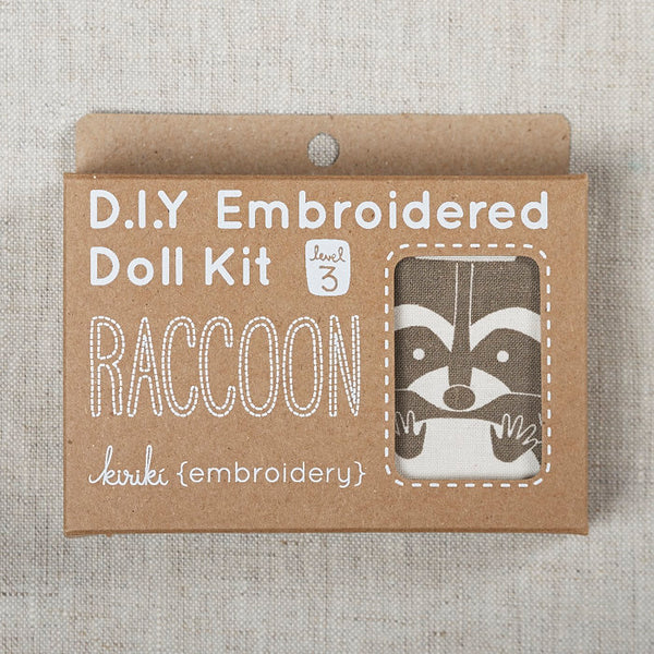 Raccoon Embroidered Doll Kit
