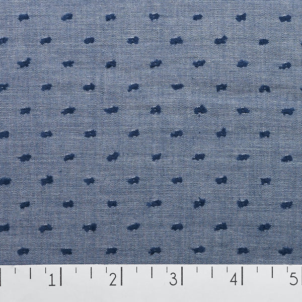 Swiss Dot Chambray
