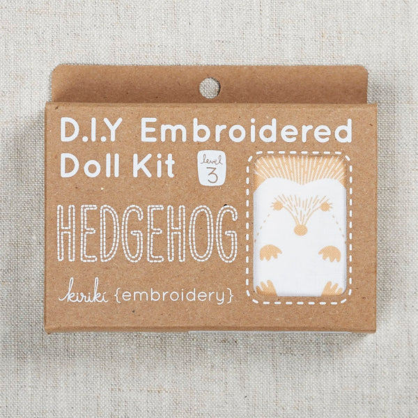 Hedgehog Embroidered Doll Kit