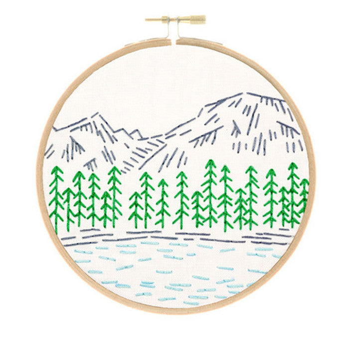 Rocky Mountains Embroidery Kit