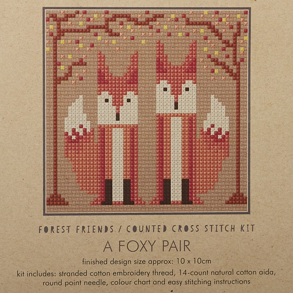A Foxy Pair Cross Stitch Kit