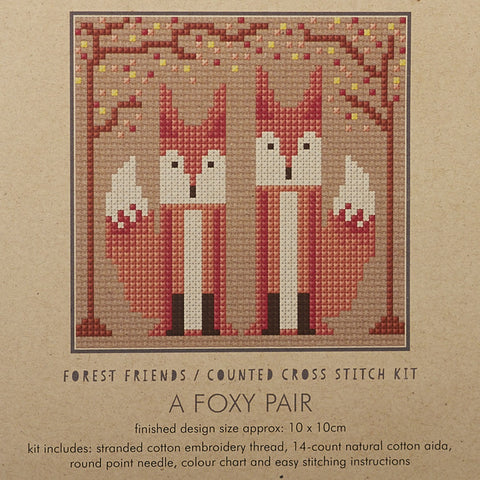 Crafty Like A Fox Cross Stitch Kits