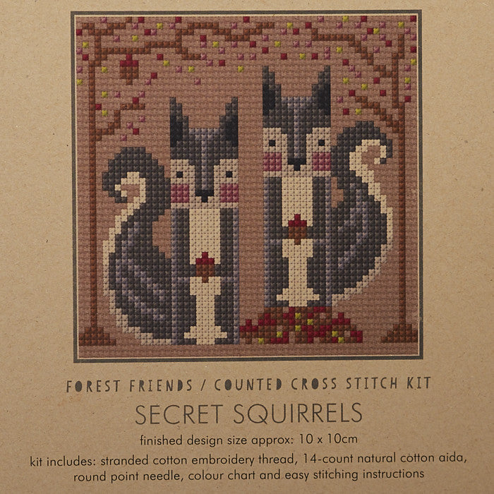 Secret Squirrels Cross Stitch Kit