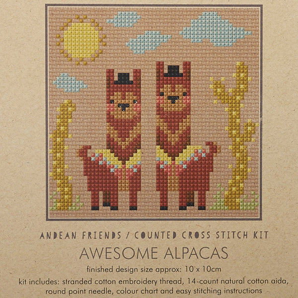 Awesome Alpacas Cross Stitch Kit