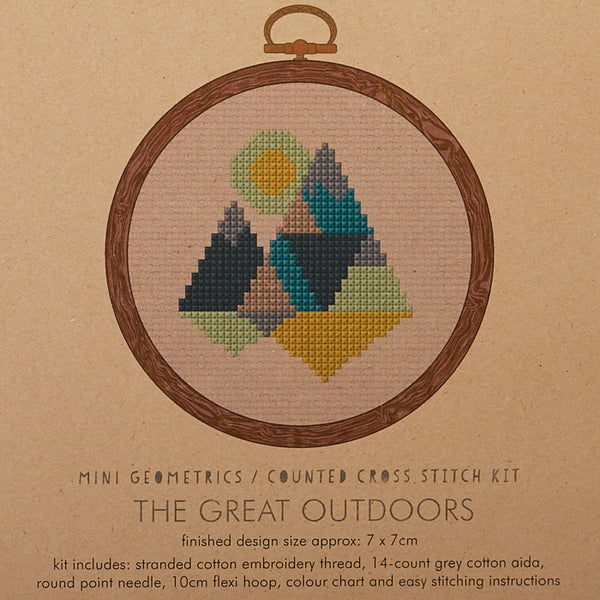 The Great Outdoors Green Cross Stitch Kit