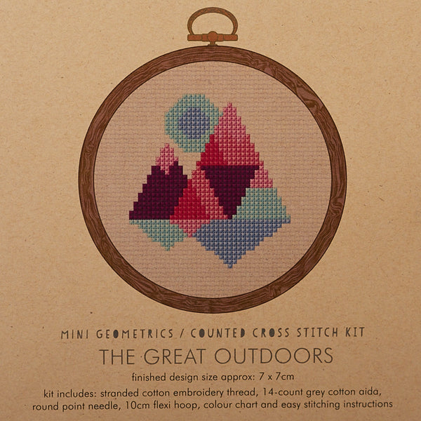 The Great Outdoors Purple/Red Cross Stitch Kit