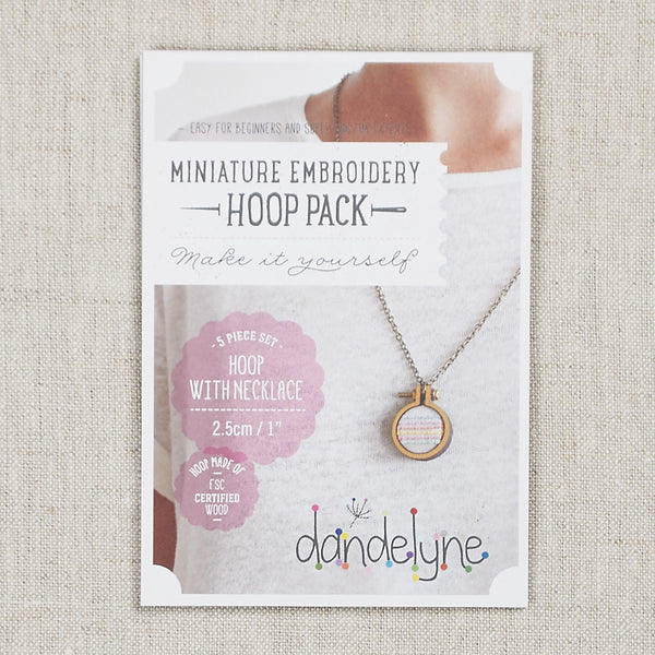 "Mini Hoop 1"" Necklace Set"