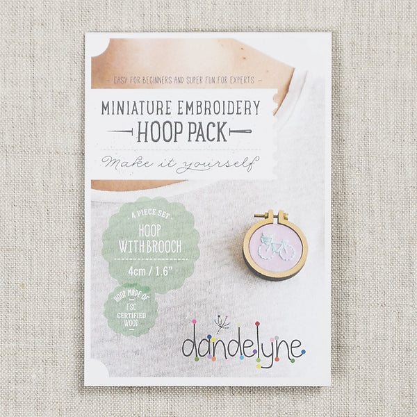 "Mini Hoop 1.6"" Brooch Set"