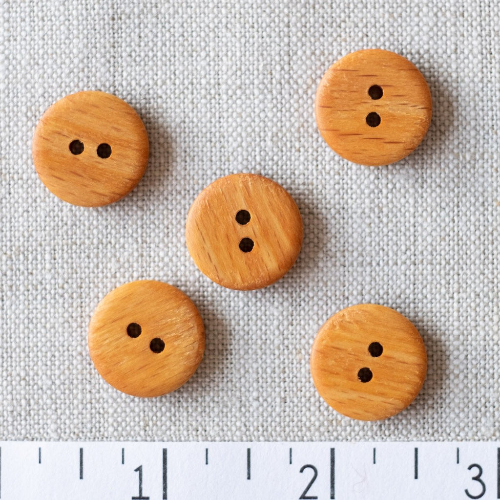 Wood Button 18mm