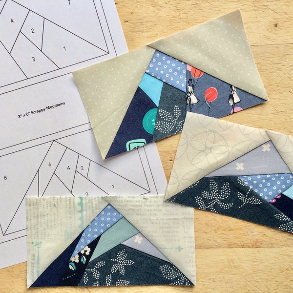 Foundation Paper Piecing: Mountain Block