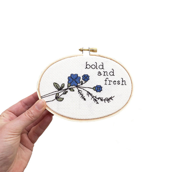 """Bold and Fresh"" Cross Stitch Kit"