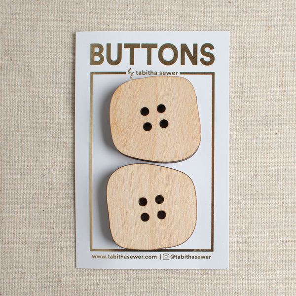 Irregular Square Buttons 1.25""