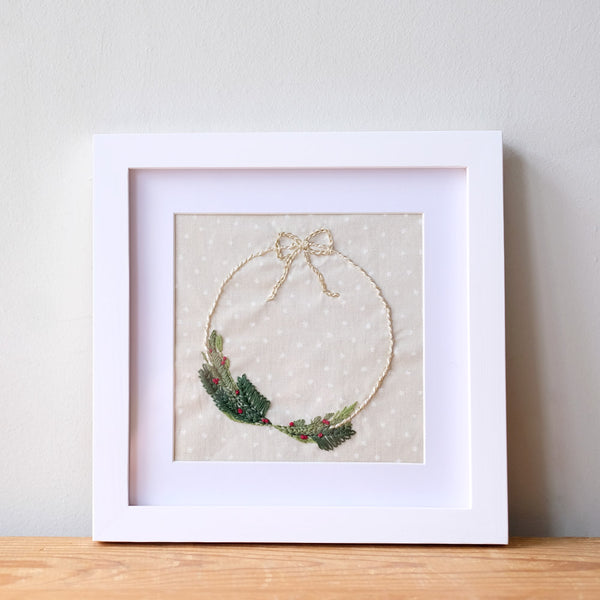 Embroidery 101: Holiday Wreath