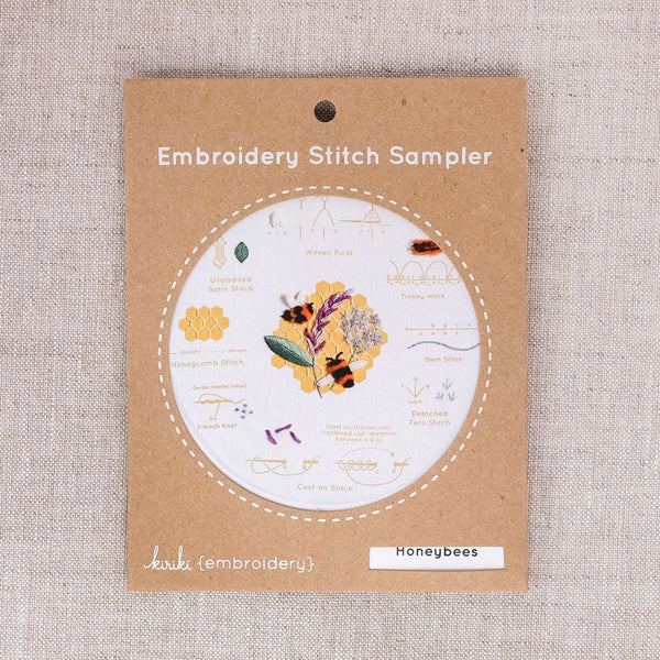 Honeybees Embroidery Stitch Sampler