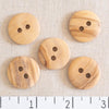 Natural Wood 2 Hole Button 23mm