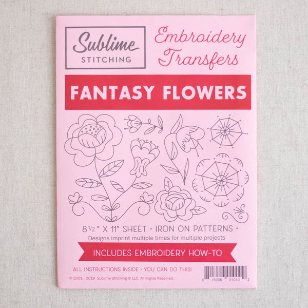 Fantasy Flowers Embroidery Pattern