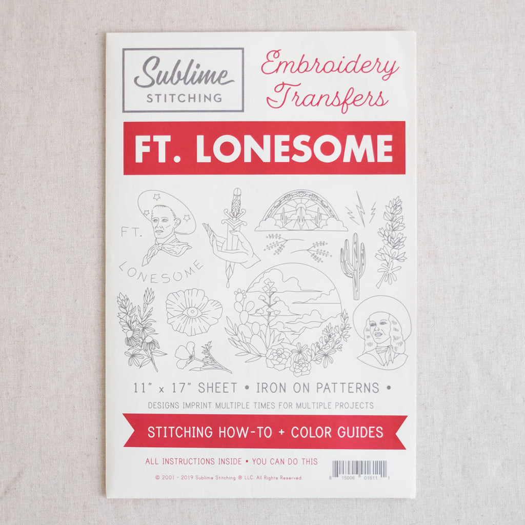 Ft. Lonesome Big Sheet Embroidery Transfer Patterns
