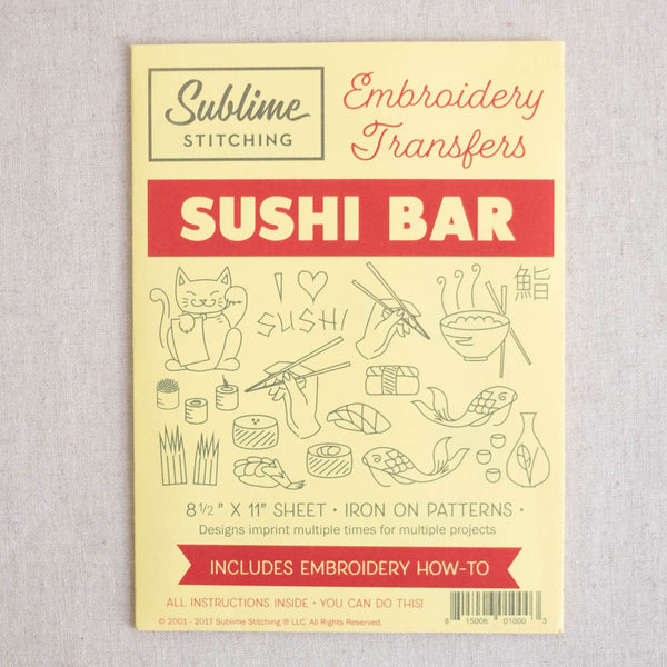 Sushi Bar Embroidery Patterns