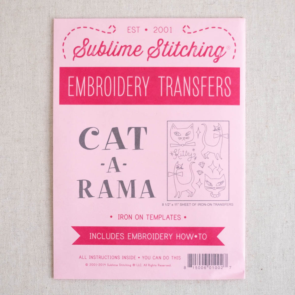 Cat a Rama Embroidery Patterns