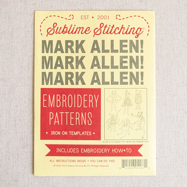 Mark Allen Embroidery Patterns