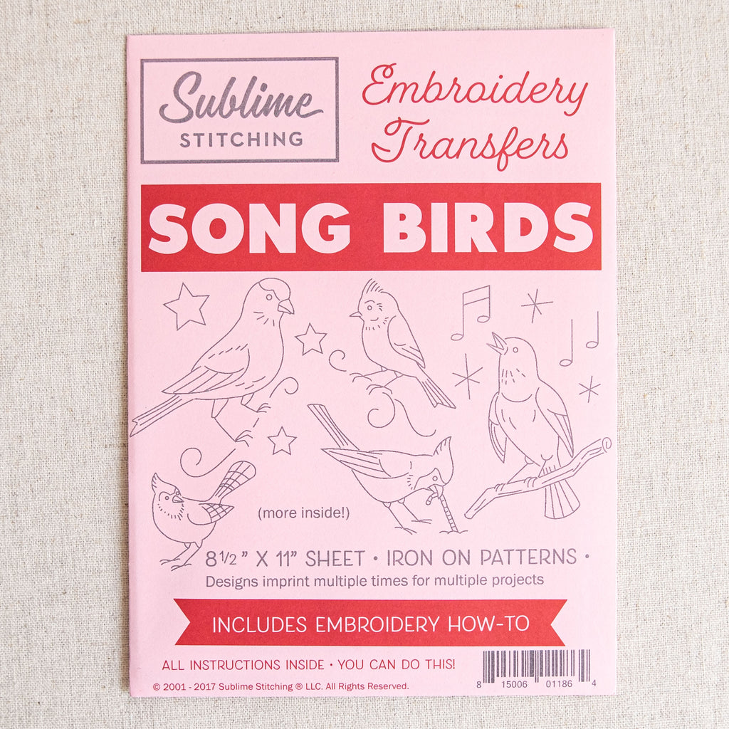 Song Birds Embroidery Patterns