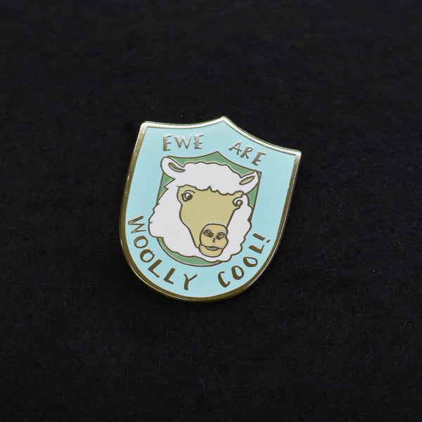 Ewe Are Woolly Cool Enamel Pin
