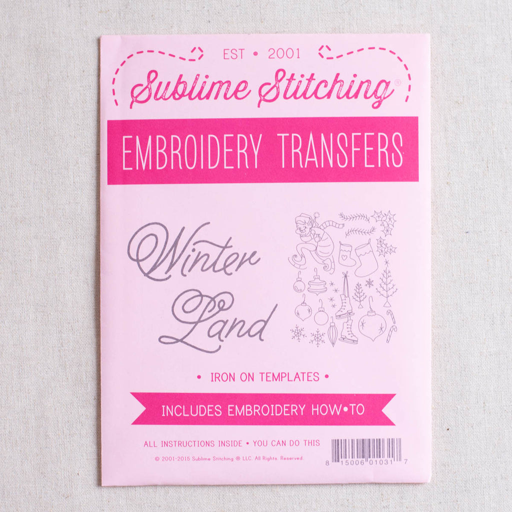Winterland Embroidery Patterns
