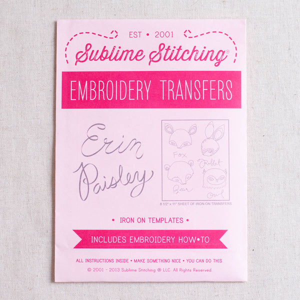 Erin Paisley Embroidery Patterns