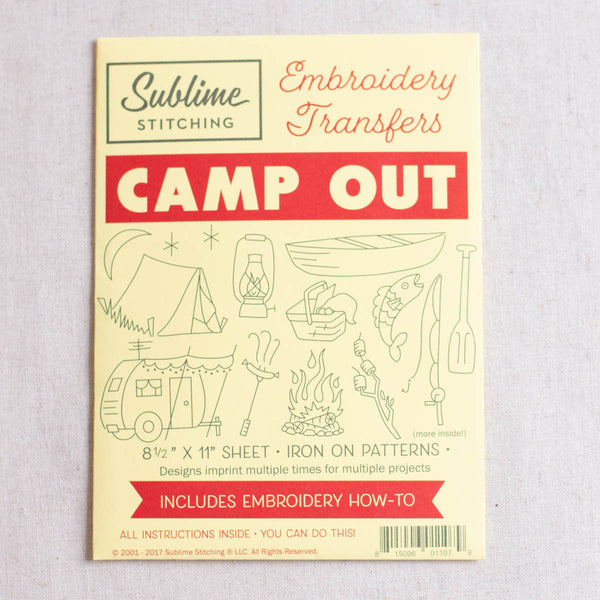 Camp Out Embroidery Patterns