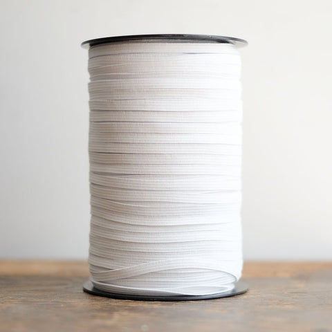 "1/4"" White Braided Elastic Spool (220yd)"
