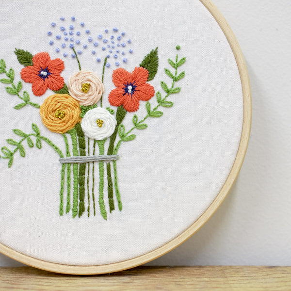 Embroidered Floral Sampler