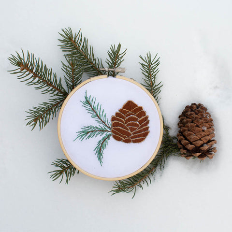 02/28 VIRTUAL Embroidery 101: Pine Cone