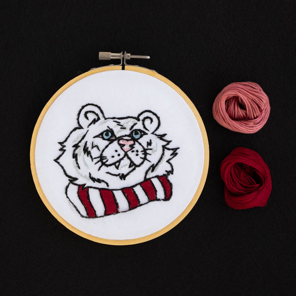 02/21 VIRTUAL Embroidery 201: Cozy Tiger