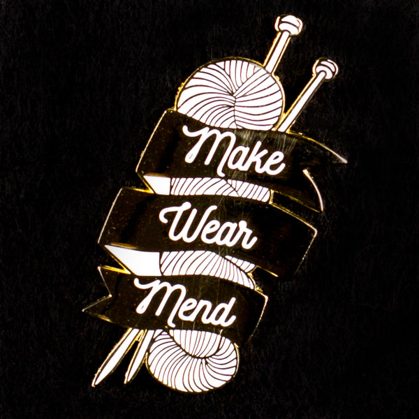 Make Wear Mend Enamel Pin