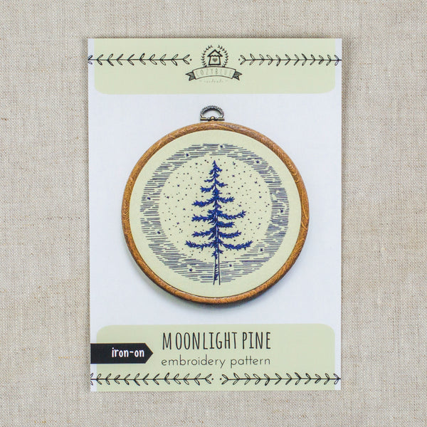 Moonlight Pine Embroidery Pattern