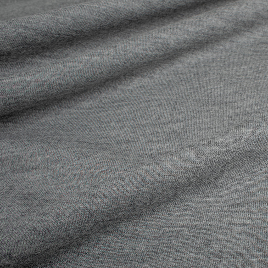 Heather Grey 100% Wool Jersey