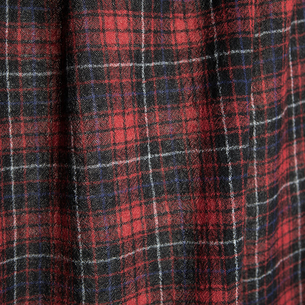 Lightweight Wool Crêpe Plaid