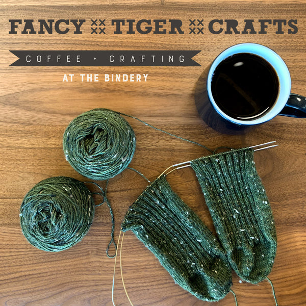 Coffee + Crafting at the Bindery