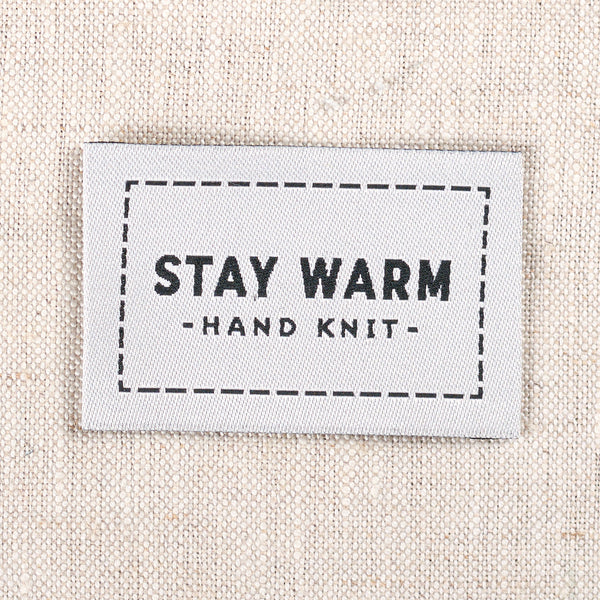 Stay Warm Woven Labels