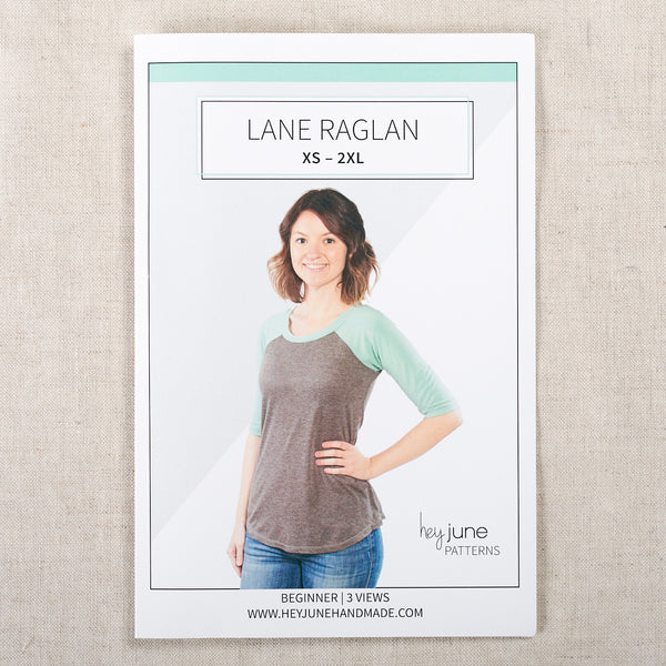 Lane Raglan Paper Pattern