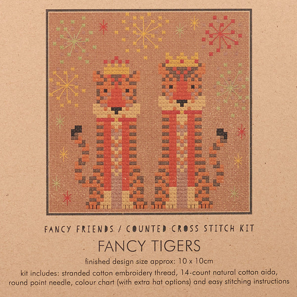 Fancy Tigers Cross Stitch Kit
