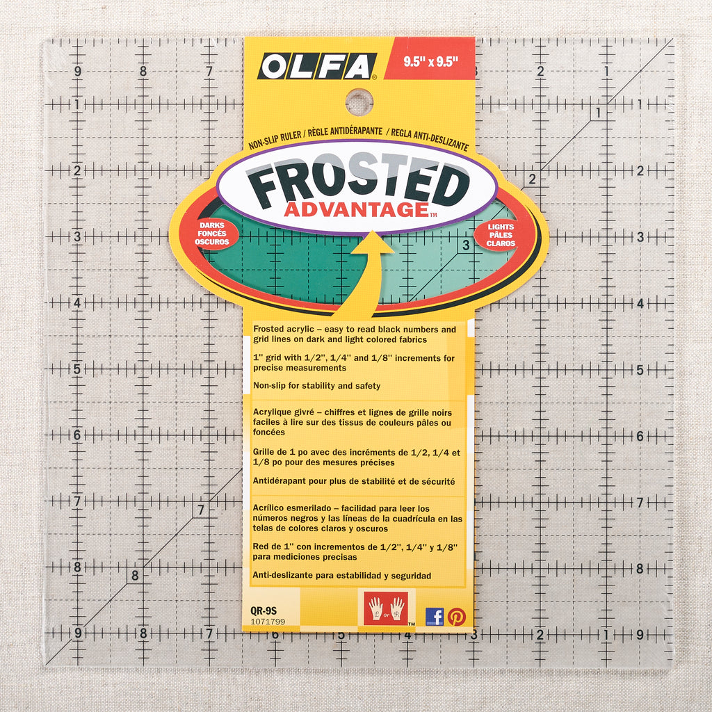 "Quilting Ruler 9.5"" x 9.5"""